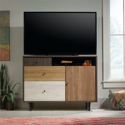 Sauder Eden Rue Tv Stand In Spiced Mahogany : Tv Stands – Best Buy With Famous Mahogany Tv Stands (View 15 of 20)