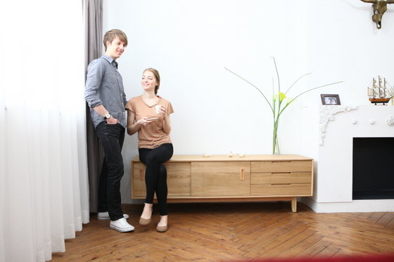 Scandinavian And Contemporary Oak Tv Stand(id:9021950) Product Intended For Well Known Scandinavian Tv Stands (View 10 of 20)