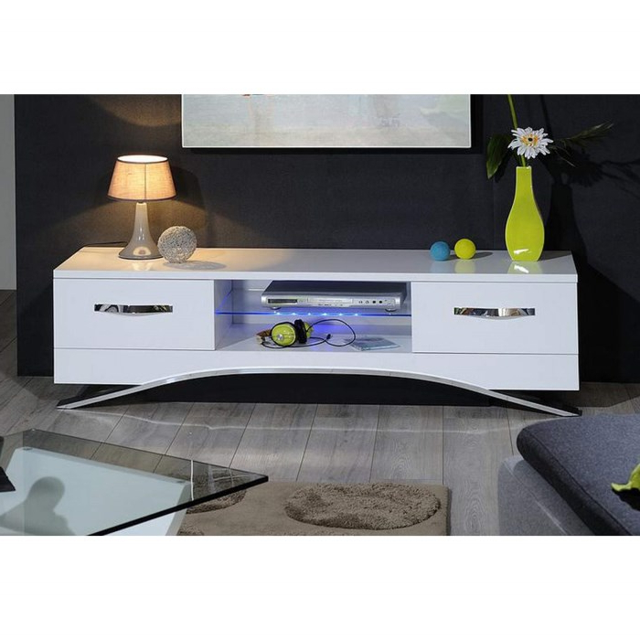 Sciae Smooth Tv Unit Sd White High Gloss Tv Cabinet Display Cabinet With Fashionable High Gloss White Tv Cabinets (View 6 of 20)