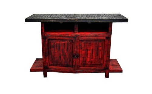 Scraped Red Finish 2 Door Tv Stand Real Wood Flat Screen Console With Famous Rustic Red Tv Stands (View 20 of 20)