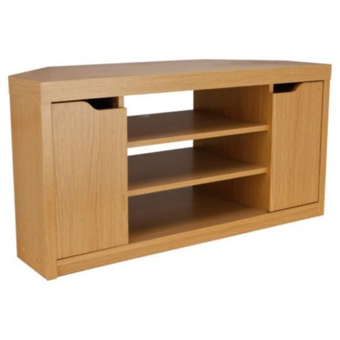 Seattle Oak Effect Corner Tv Unit From Tesco Direct (View 7 of 20)