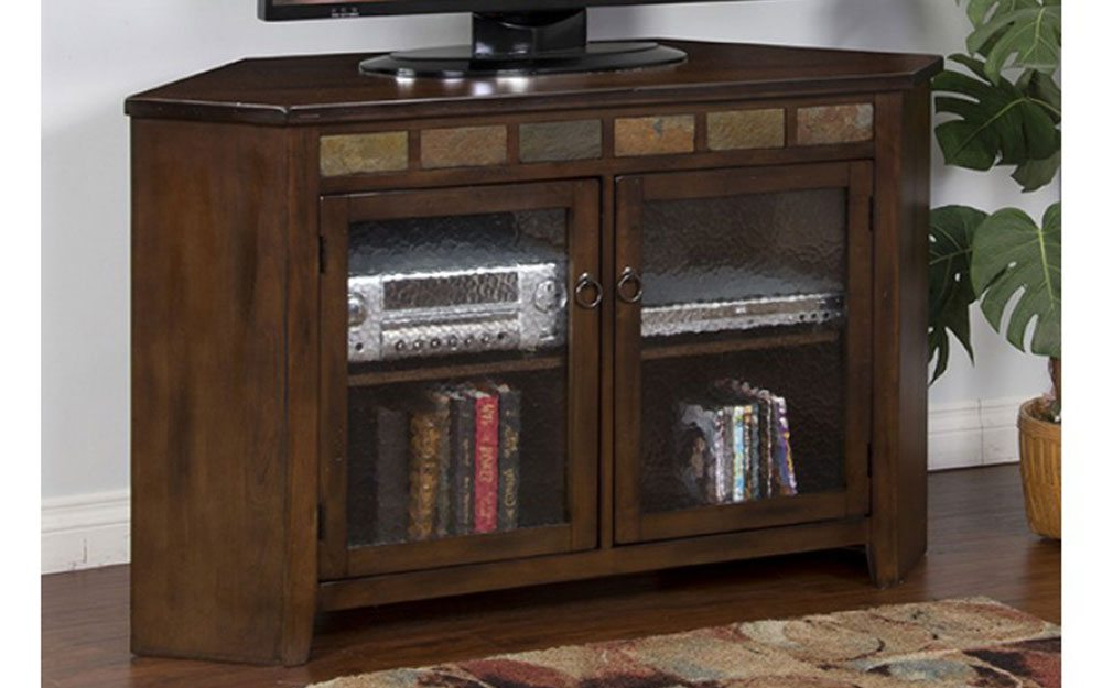 Sedona 55 Inch Corner Tv Stand At Gates Home Furnishings – Gates For Most Current Corner Tv Tables Stands (View 3 of 20)