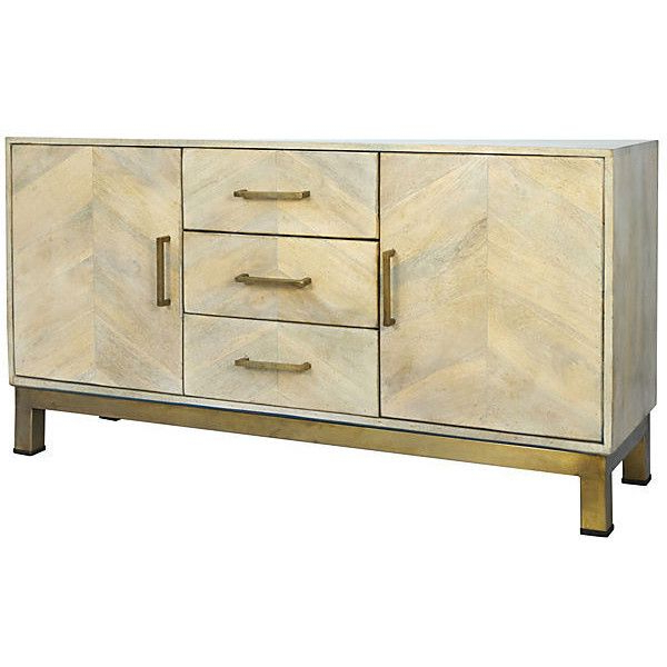 Selamat Justinian Credenza Natural Buffets & Sideboards ($1,829 Throughout Latest Burnt Oak Metal Sideboards (View 16 of 20)