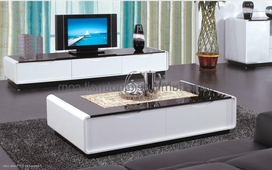 Sell Modern Livingroom Furniture Set Tv Stand Coffee Table I – China – Throughout Most Recently Released Coffee Tables And Tv Stands Sets (View 18 of 20)