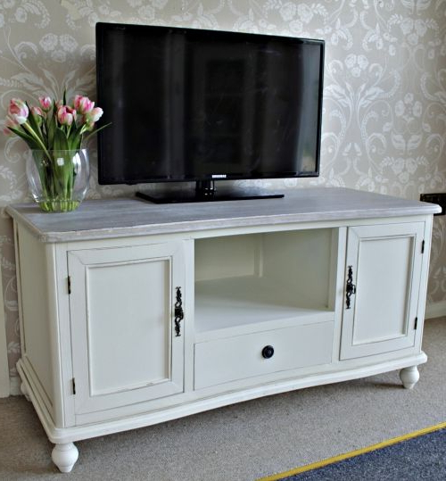 Shabby Chic Tv Cabinets Within Popular Cottage' Cream Wooden Tv Unit/cabinet Shabby Lounge Television Stand (View 15 of 20)