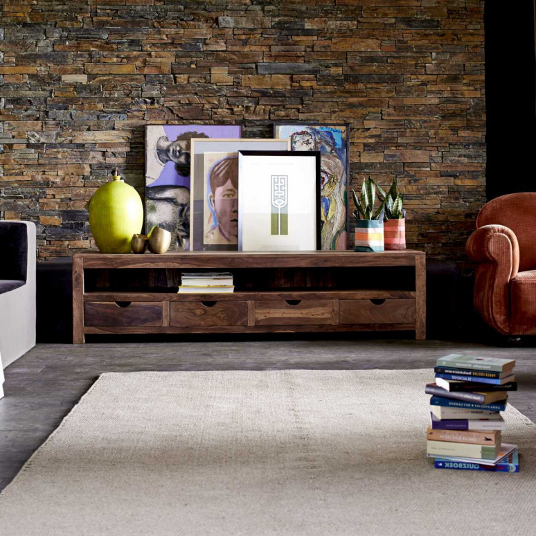 Sheesham Tv Stand – Oliver Tv Stands Sale – Tikamoon Pertaining To Newest Sheesham Tv Stands (View 3 of 20)