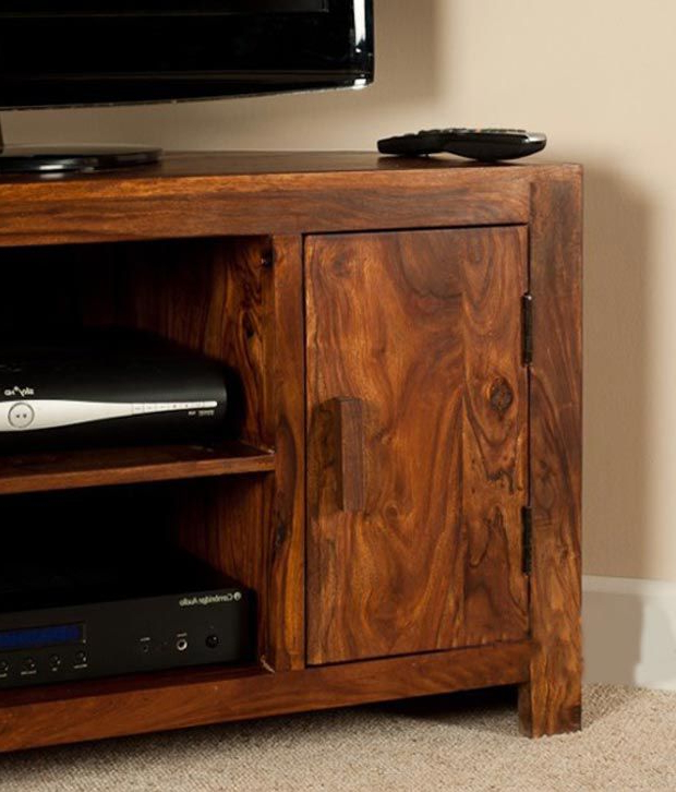 Sheesham Tv Stands Inside Well Known Lifeestyle – Handcrafted Sheesham Wood Tv Stand – Buy Lifeestyle (View 12 of 20)