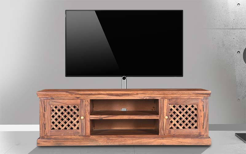 Sheesham Wood Tv Stands Inside Widely Used Buy Royaloak Haveli Tv Stand In Sheesham Woodroyaloak At The (View 12 of 20)