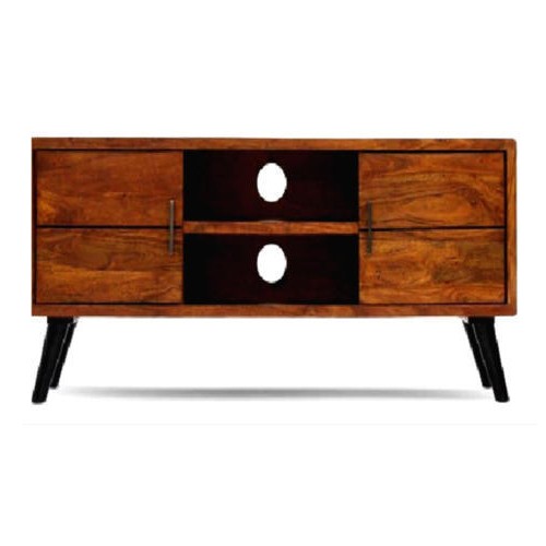 Sheesham Wood Tv Stands With Regard To Best And Newest Brown Sheesham Wood Tv Stand Drawer Unit, Rs 6600 /piece, Wood (View 17 of 20)