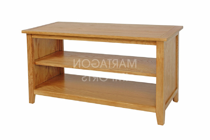 Shelford Oak Short Tv Stand – Maple Ridge Joinery Ltd Intended For Preferred Small Tv Stands (View 16 of 20)