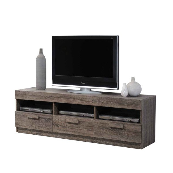 Shop Acme Furniture Alvin Rustic Oak Tv Stand – Free Shipping Today With Most Current Oak Tv Stands (View 19 of 20)