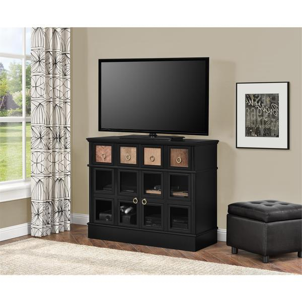 Shop Avenue Greene Wakefield Apothecary 42 Inch Black Tv Console Intended For Most Popular Wakefield 97 Inch Tv Stands (View 13 of 20)