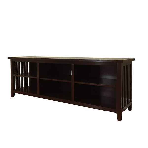 Shop Brookdale Dark Walnut Tv Stand – N/a – Free Shipping Today Pertaining To Current Dark Walnut Tv Stands (View 17 of 20)