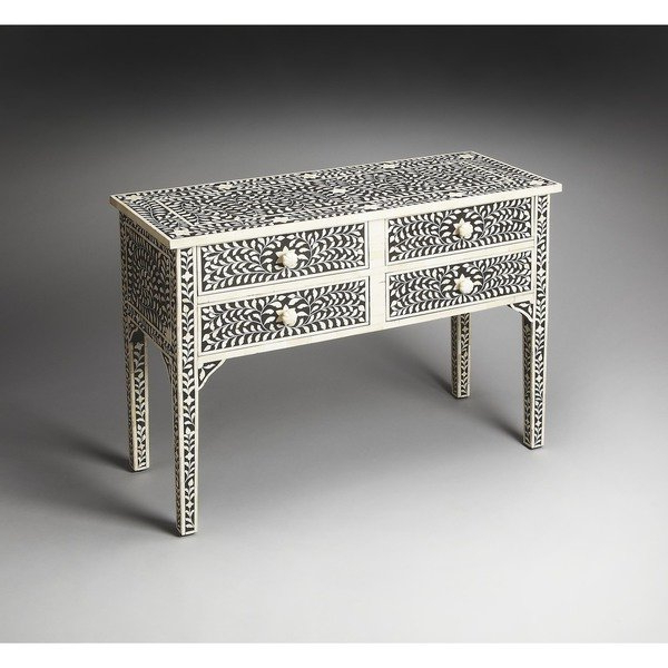 Featured Photo of Black And White Inlay Console Tables