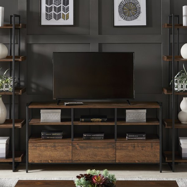 Shop Corey Rustic Brown Tv Stand Console Tablesinspire Q Modern Inside Well Known Rustic Tv Stands For Sale (View 12 of 20)