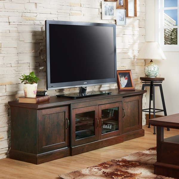 Shop Furniture Of America Walder 68 Inch Tv Stand – On Sale – Free For Preferred Casey Umber 74 Inch Tv Stands (View 13 of 20)