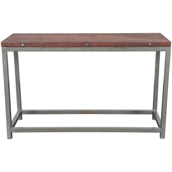 Shop Handmade Wanderloot Industrial Reclaimed Wood Console Table Pertaining To Widely Used Frame Console Tables (View 16 of 20)