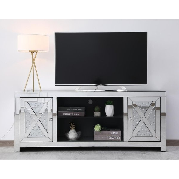 Shop Indigo Home Mirrored Tv Stand With Crystals – Free Shipping With Regard To Favorite Mirrored Tv Stands (View 16 of 20)