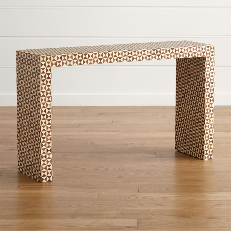 Shop Intarsia Natural Console Table (View 20 of 20)