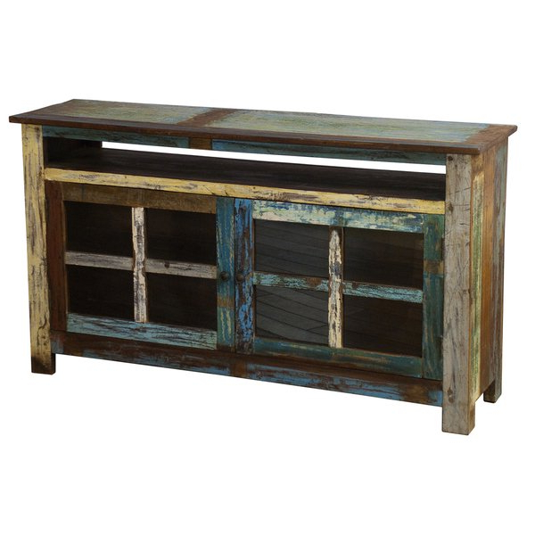 Shop Kosas Home Vinnie Multicolor Recycled Wood Tv Stand – Free Within Well Known Recycled Wood Tv Stands (View 3 of 20)