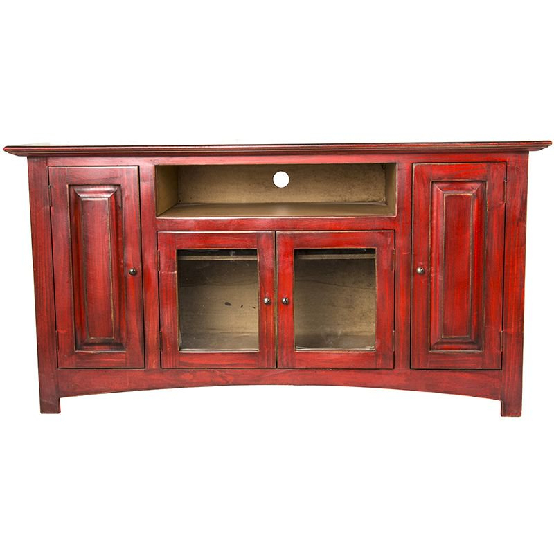 Shop Lmt Rustic Red Color Wash Tv Stand – Nrs Inside Trendy Rustic Red Tv Stands (View 6 of 20)