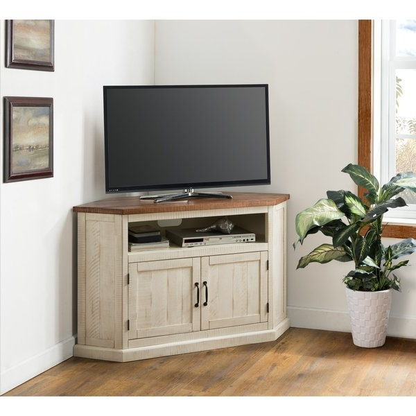 """Shop Martin Svensson Home Rustic Collection 50"""" Solid Wood Corner Tv With Regard To Most Recently Released Solid Wood Corner Tv Cabinets (View 7 of 20)"""
