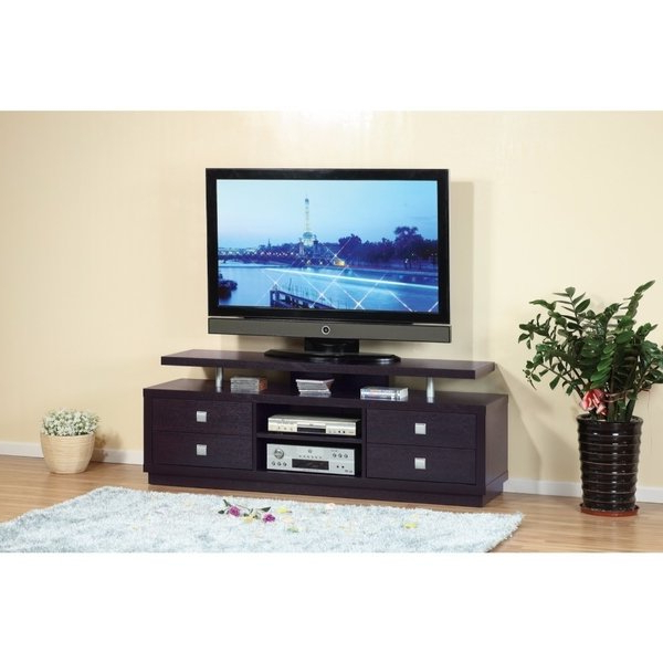 Shop Modern Style Tv Stand With 4 Drawers And 2 Open Shelves (View 10 of 20)