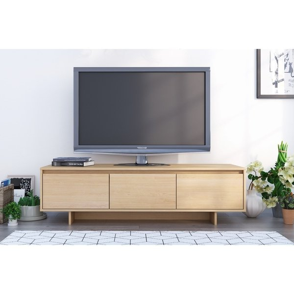 Shop Nexera Rustik 60 Inch Tv Stand, Natural Maple – Free Shipping Throughout Recent Nexera Tv Stands (View 17 of 20)