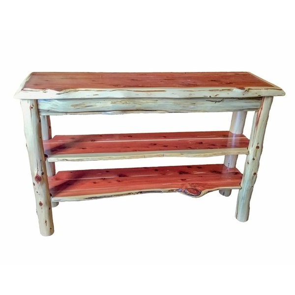 Shop Rustic Red Cedar Log Tv Stand Or Sofa Table – Amish Made In The Inside Best And Newest Rustic Red Tv Stands (View 16 of 20)