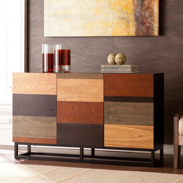 Shop Strick & Bolton Gerry Multi Tonal Credenza/console Table – On Intended For Recent Oscar 60 Inch Console Tables (View 4 of 20)