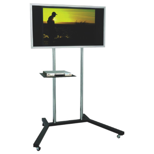 """Silver Tv Stands With Regard To Well Known Tygerclaw Mobile Tv Stand With 22"""" – 60"""" Fixed Tv Mount – Black (View 16 of 20)"""