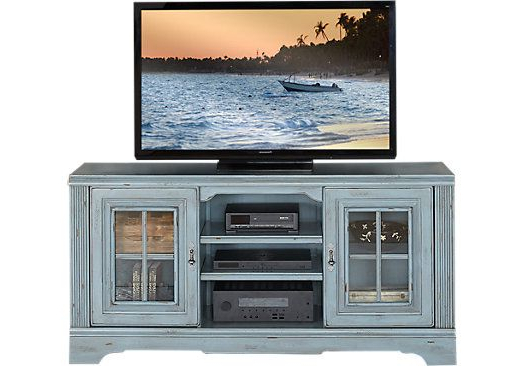 Sinclair Blue 64 Inch Tv Stands Pertaining To Famous Mountain Bluff Blue 66 In (View 16 of 20)