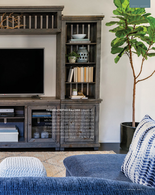 Sinclair Grey 68 Inch Tv Stands Pertaining To Fashionable Living Spaces – Fall 2017 – Sinclair Grey 4 Piece Entertainment Center (View 17 of 20)