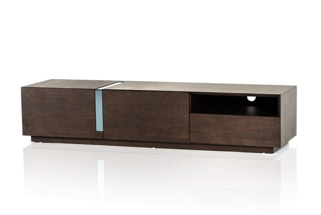 Single Shelf Tv Stands For Well Known Furniture: Simple Brown Small Contemporary Tv Stand Featuring Single (View 13 of 20)