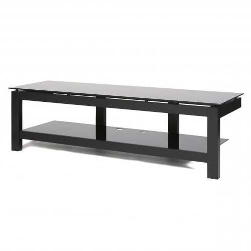 Single Shelf Tv Stands Intended For Current Plateau Sl Series Single Shelf Open 64 Inch Tv Stand Black Canada (View 14 of 20)