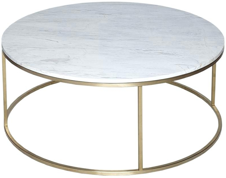 Slab Marble Coffee Table With Brass Base Image 0 Vintage Swan Intended For Famous Elke Marble Console Tables With Brass Base (View 19 of 20)