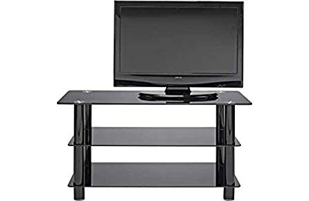 Slim Line Tv Stands Pertaining To Famous Other Black Glass 42 Inch Slimline Tv Stand.: Amazon.co (View 11 of 20)