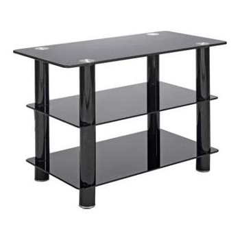Slim Line Tv Stands Within Recent Black Glass 32 Inch Slimline Tv Stand: Amazon.co (View 14 of 20)