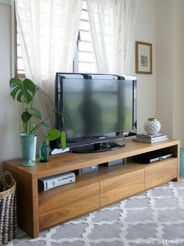Slimline Tv Cabinet Easy Tips For Tv Stand Decor And Styling Within Well Known Slimline Tv Stands (View 14 of 20)