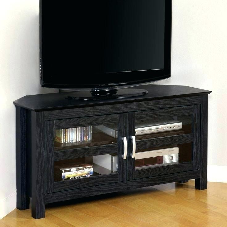 Small Black Tv Cabinets With Regard To Current Small Black Tv Stand Wooden Stand Small Ebony Brown Small Black (View 16 of 20)