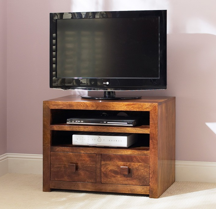 Small Tv Cabinets With Most Popular Dakota Mango Small Small Tv Cabinet Bathroom Mirror Cabinet Wood (View 6 of 20)
