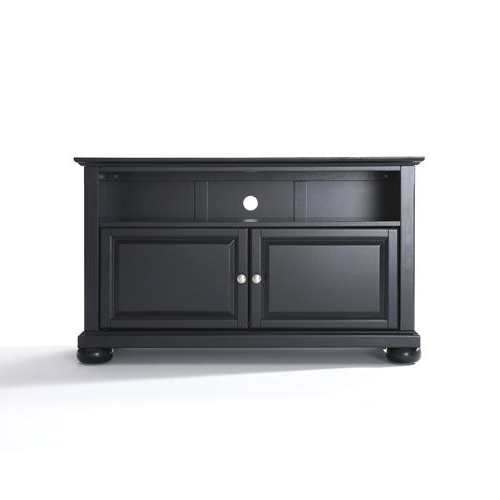 Small Tv Cabinets Within Most Current Crosley Furniture Alexandria 42 Inch Tv Stand In Black Finish (View 14 of 20)