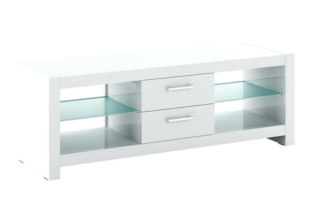 Small White Tv Cabinets Inside Trendy Small White Tv Table White Stand With Drawers White Color Modern (View 16 of 20)