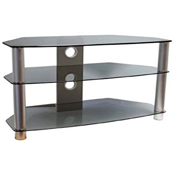 Smoked Glass Tv Stands For Fashionable Valufurniture Brisa 1000Mm Smoked Glass Tv Stand For Up: Amazon (View 18 of 20)