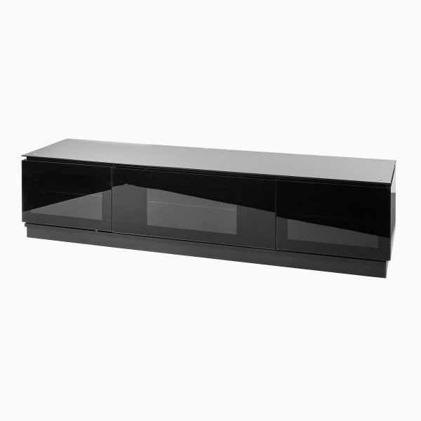 Smoked Glass Tv Stands Pertaining To Recent Black Gloss Tv Unit Up To 80 Inch Flat Screen Tv (View 19 of 20)