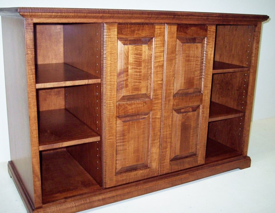 Solid Curly Maple Tv Cabinet – Eagle Cabinets Within Most Current Maple Tv Cabinets (View 2 of 20)