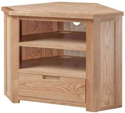 Solid Oak Corner Tv Cabinets Intended For Trendy Solid Oak Corner Tv Unit (View 17 of 20)