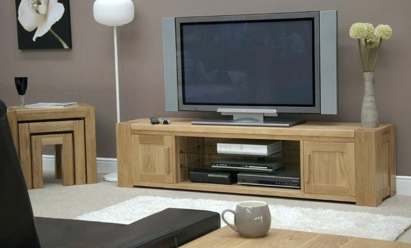 Solid Oak Television Stands Small Solid Wood Stands Small Wooden With Regard To Most Popular Large Oak Tv Stands (View 18 of 20)