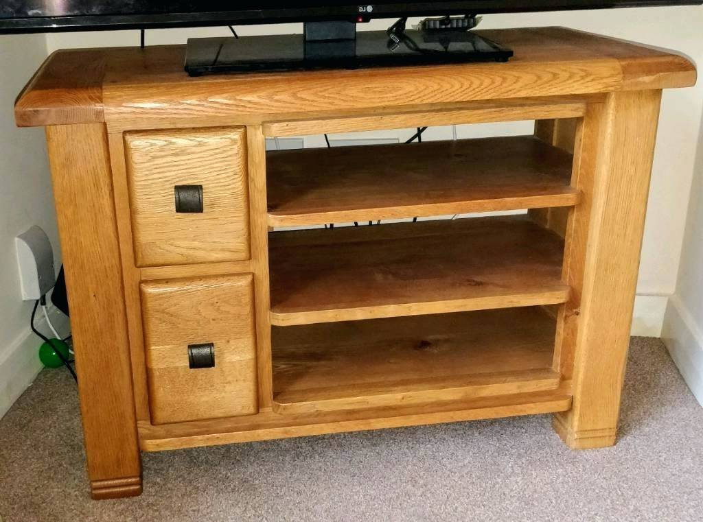 Solid Oak Tv Stands For Flat Screen Wood Unit Furniture Table Stand In 2018 Oak Tv Cabinets For Flat Screens With Doors (View 12 of 20)