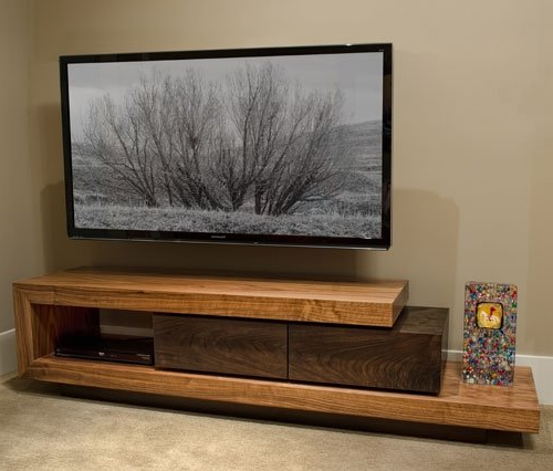 Solid Oak Tv Stands Within 2017 Solid Wood Tv Stands – Ideas On Foter (View 16 of 20)